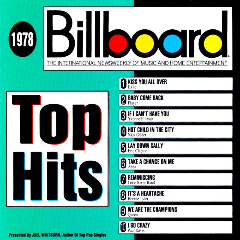 Billboard Top Hits - 1978 -1991